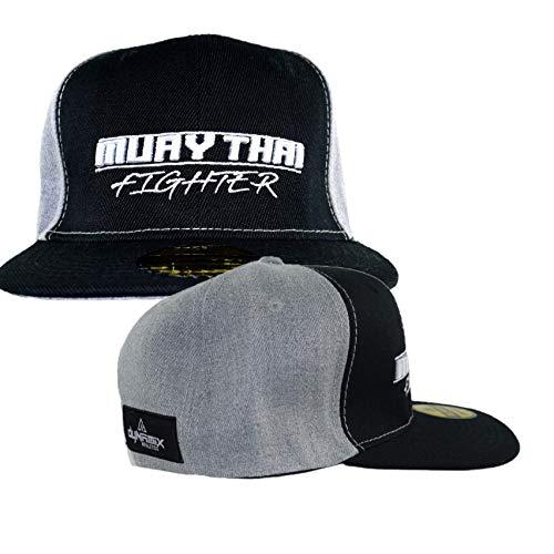 Dynamix Athletics Snapback Cap Muay Thai Schwarz/Grau Kampfsport Thaiboxen Kappe Mütze Baseball Cap