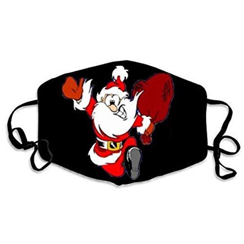 N / A Schwarze Masken für Männer und Frauen haben lustige Gesichtsausdrücke, Staub und nebelsichere Baumwollmasken und lustige Weihnachtsmannmasken