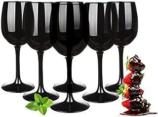 Set de copas de vino 300ml en paquetes de 6Negra