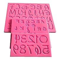 New Arrival 3pcs Letter Alphabet 3D Silicone Cake Mold Fondant Molds Sugarcraft Candle DIY Cake Decorating Tools Set Baking Tool