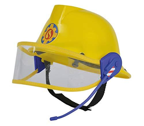 Smoby 109258698002 Sam il pompiere - Casco da pompiere con microfono, regolabile, per bambini dai 3 anni