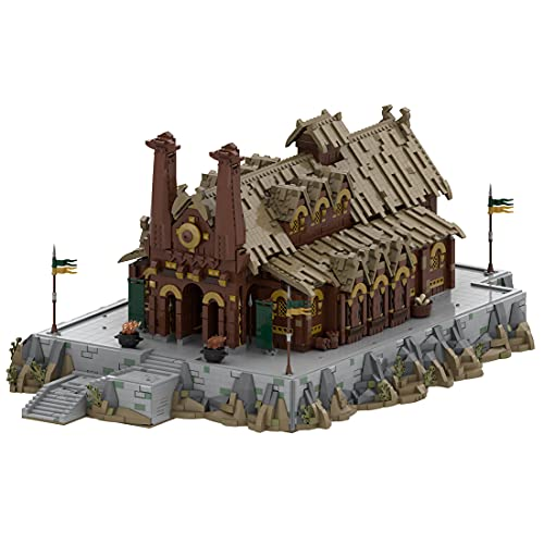 Myste Alex Bonelli MOC-62288 - Mattoncini modulari per la casa di castello Medusselde per architettura di città compatibile con Lego