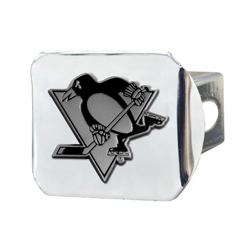 FANMATS 15152 NHL Pittsburgh Penguins Chrome Hitch Cover , 3.4