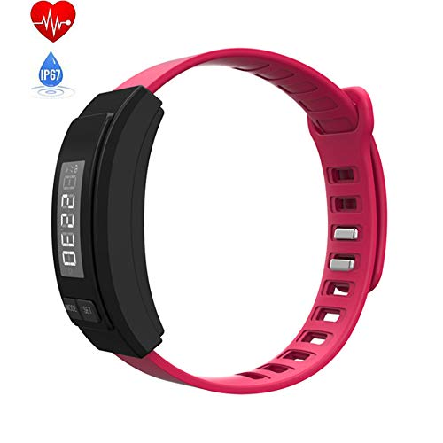 Mengen88 stappenteller, sport, caloriearmband, reishorloge, kinderen, volwassenen, hardlopen, fitness, riem, meerdere kleuren, voor Android en Apple iOS-systeem, rood