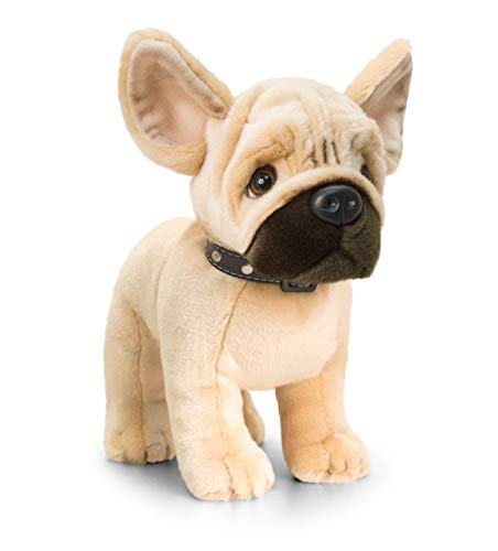 Peluche de Perro Frenchie color Marrón 40 cm de alto
