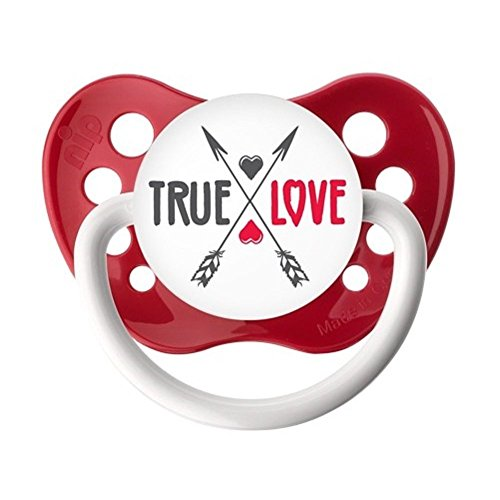 Ulubulu True Love Red Classic Expression Pacifier 6-18 Months