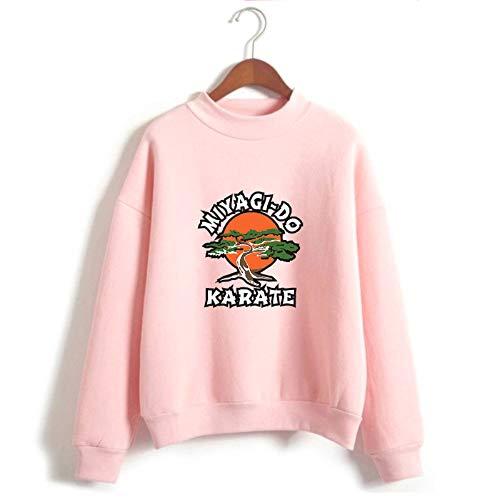JDSWAN Cobra Kai Pullover Unisex Hoodie Miyagi-DO Karate Gedruckt Lange Ärmel Hoher Hals Pulli Sweatshirt mit Kapuze Pullover Sweatjacke für Damen Herren