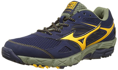 Mizuno Wave Kien G-Tx, Zapatillas de Running para Hombre, Multicolor (Peacoat/Goldfusion/Deeplichengreen), 42.5 EU