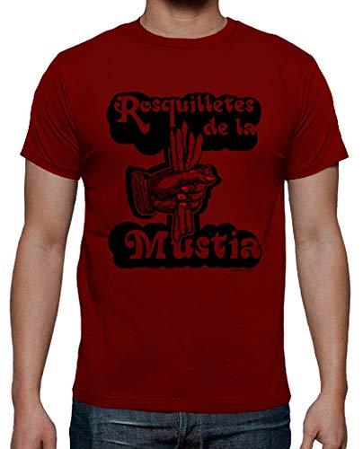 latostadora - Camiseta Rosquilletes de la Mustia para Hombre Rojo 3XL