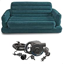 INTEX 68566 Two Person Inflatable Pull Out Sofa Bed With Electric Quick Pump 220 V
