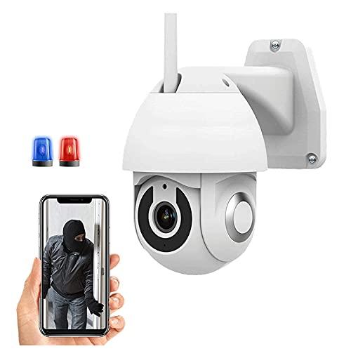 Vigilancia PTZ CCTV Cámara Cámara Inalámbrica Al Aire Libre WiFi Cámara IP De Alta Definición 1080P Vigilancia Al Aire Libre Cámara De Cámara Visión Nocturna, Spin De 355 ° / 90 °(Size:camera+64G)