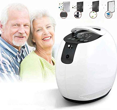 InLoveArts Concentratore di ossigeno, Macchina portatile per ossigeno 1-7L / min 90% ± 3% Ossigeno Purezza Macchina regolabile, per Casa Viaggio Uso (1)