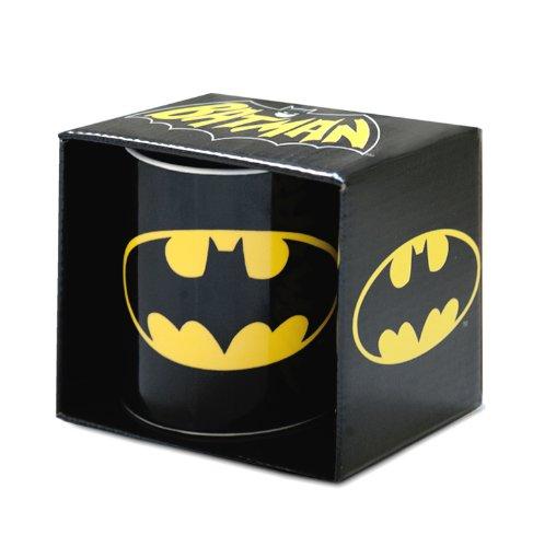 Logoshirt DC Comics - Batman Logo Porzellan Tasse - Kaffeebecher - schwarz - Lizenziertes Originaldesign