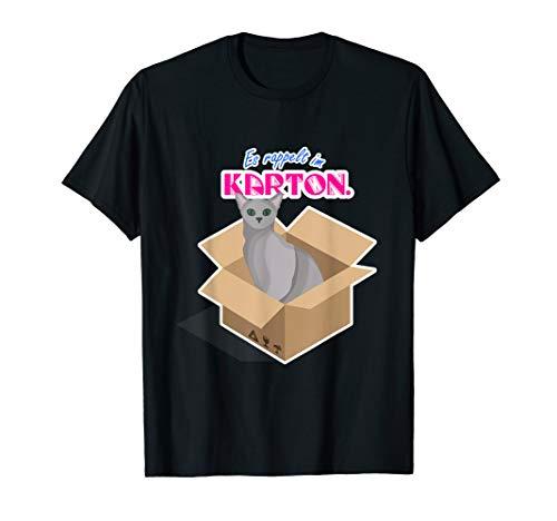 Katze im Karton, Katze, Katzenmama, Meow, T-Shirt