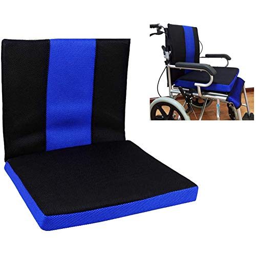 XER Wheelchair Cushion Back Sciatica Relieve Cushion Anti-Decubitus Honeycomb Cushion Breathable Comfort Wheelchair Cushion(45413.5cm)