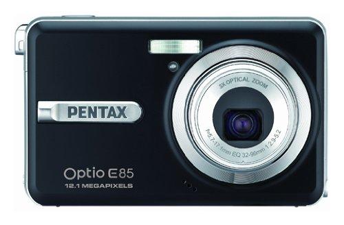Pentax Optio E85 Digitalkamera (12 Megapixel, 3-fach opt. Zoom, 6,9 cm (2,7 Zoll) Bildschirm) schwarz