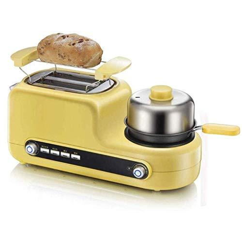ZLDGYG Ygqzg Genie Huevo de Big, 3 en 1 Desayuno Center Station-2-Slice Toaster for cocinar Huevos, Tortilla de Huevos, Tocino y Carne Vapor-One Touch Controles