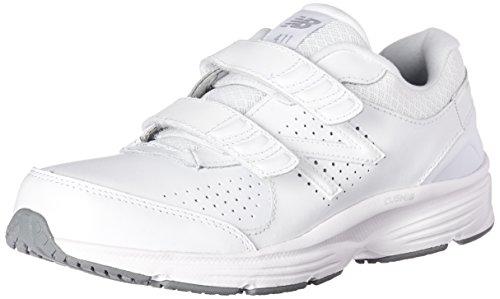 New Balance Women's 411 V2 Hook and Loop Walking Shoe, White, 6 M US