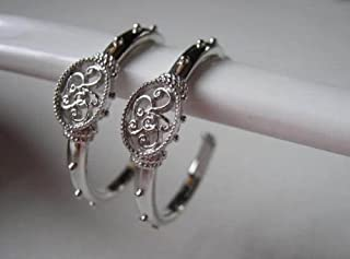 Longaberger So Rachel Sterling Silver Hoop Earrings #90223 NEW
