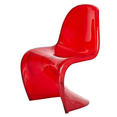 Taburetes de Bar con Respaldo, Silla de Comedor, tocador de Maquillaje, Silla Moderna - apilable (Color : Red)