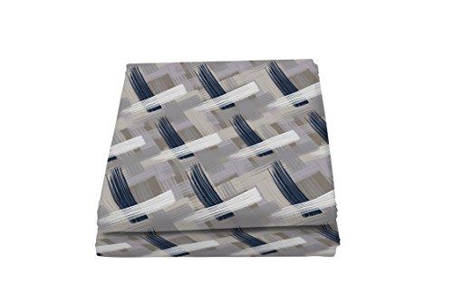 Italian Bed Linen Fantasy Pennellate Telo Copritutto Stampato 1 Posto, Microfibra, Multicolore, 170 x 280 cm