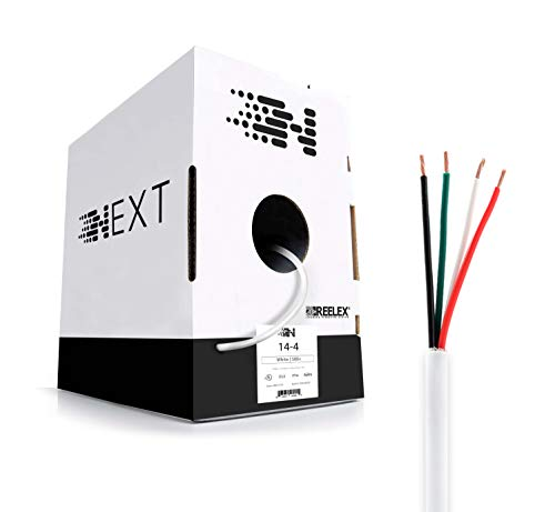 Next 14/4 Speaker Wire - OFC - UL in-Wall and Direct Burial - 500 Foot - White