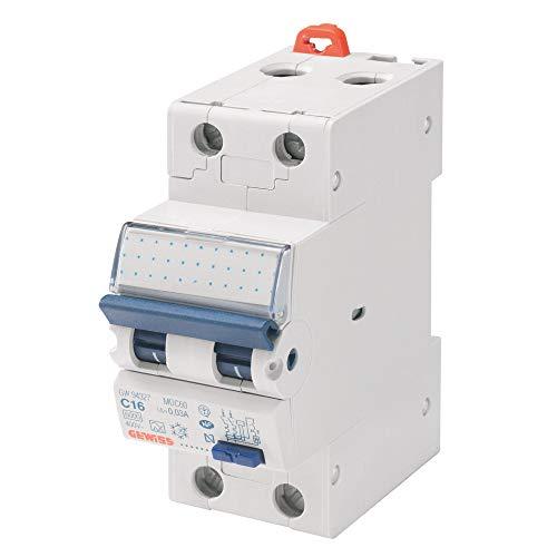 Gewiss - Interruttore Magnetotermico Differenziale Compatto - Mdc 45 - 1P+N Curva C 32A Tipo AC Idn=0,03A - 2 Moduli
