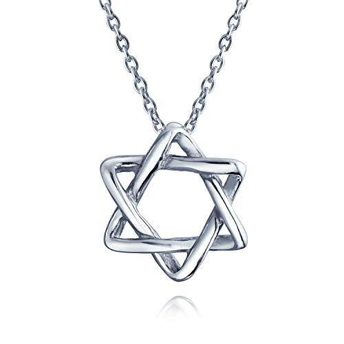 Janucá Judía Maguen Entrelazadas Estrella De David Colgante Collar Para La Mujer Adolescente 925 Plata De Ley 925