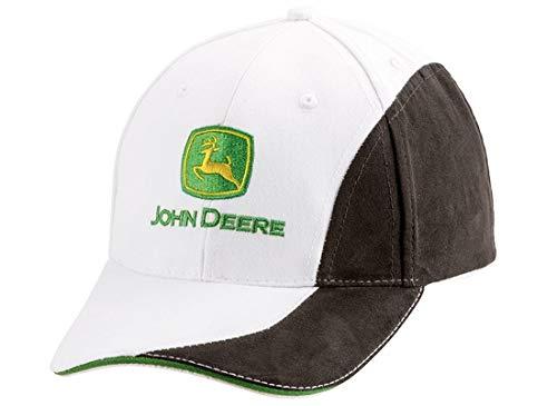 John Deere - Gorra de mezcla de color negro y blanco
