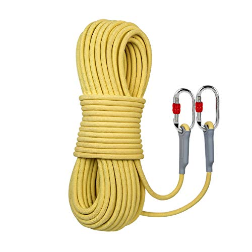 100m Kevlar Static Rope, Fireproof and wear-Resistant high-Rise Escape Rope Outdoor Rope high-Altitude Safety Rope(Diameter:10.5mm)