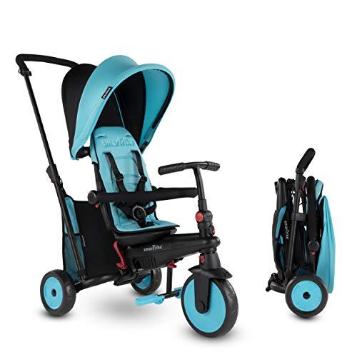 smarTrike STR3 Triciclo Plegable con Carrito Certificado para niños de 1,2,3 años, Triciclo multietapa 6 en 1, Azul
