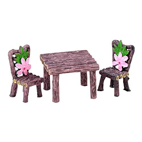 ROSETOR - Juego de 3 piezas para jardín de hadas en miniatura de paisaje de miniatura