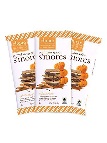 Chuao Chocolatier Pumpkin Spice S'mores Milk Chocolate Gourmet Chocolate Bar, 3-Ct. (2.8 oz. each)
