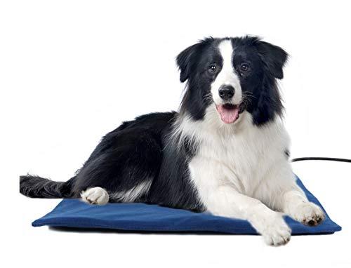 Haustier Heizkissen Heizmatte für Hunde und Katzen Wärme Konstante Temperatur wasserdicht Heizdecke mit 7 Einstellbaren Temperaturen - S(Gratis Geschenk - Einer Stoffbezug)