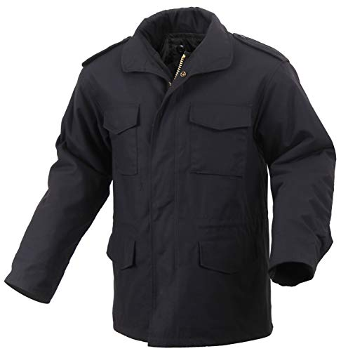 Rothco M-65 Field Jacket, Black, 2XL