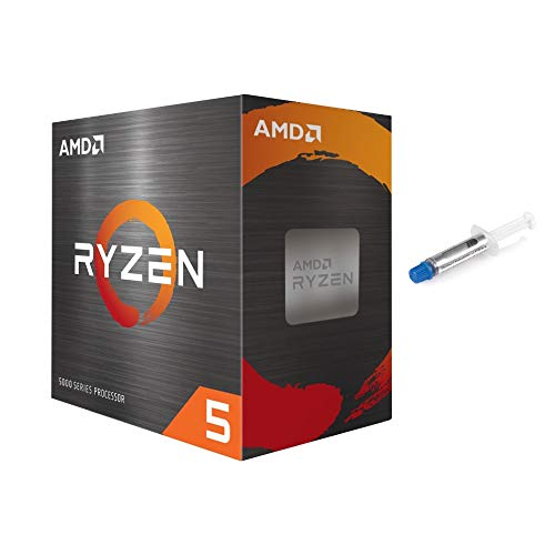 AMD-Ryzen 5 5600X 4th Gen 6-Core Desktop Processor with Wraith Stealth Cooler, 12-Threads Unlocked, 3.7 GHz Up to 4.6 GHz, Socket AM4, Zen 3 Core Architecture, w/ Mytrix Thermal Paste