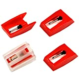 Bestdealing 4 Pack Record Player Needle Crosley Universal Diamond Stylus Tip Replacement for Power Play LP ION iCT09RS Quick Play LP Quick Play Flash Contour LP Vertical Vinyl Archive LP Pin Repair