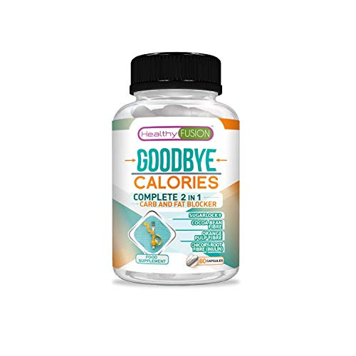 Carb Blocker Capsules complexe | Complete 2 in 1 carb and Fat Blocker | Contains sugarlock to Block Sugar Absorption | Lose Weight Fast | Weight Loss in an Effective and Healthy Way | 60 Capsules