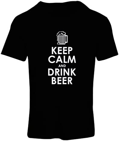 lepni.me Camiseta Mujer Mantenga la Calma y beba Cerveza