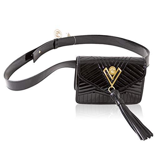 Valentino Orlandi - Borsetta da donna, piccola borsa a mano in stile italiano, con nappe