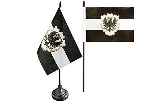 Flaggenfritze Tischflagge/Tischfahne Westpreußen + gratis Aufkleber