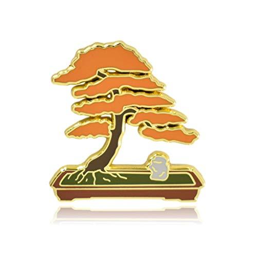 Clayton Jewelry Labs Bonsai Tree Hard Enamel Lapel Pin (Orange)
