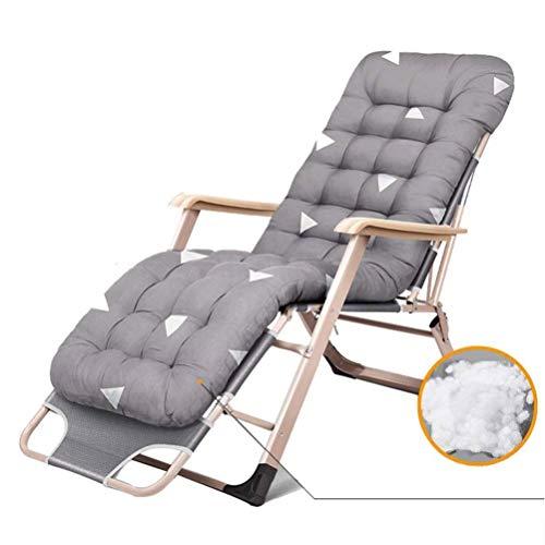 Sillón Zero Gravity Sillón Plegable Reclinable Resistente Al Aire Libre Chaise para Patio para Playa Piscina Jardín Soporta 200 Kg (Color: Gris) A