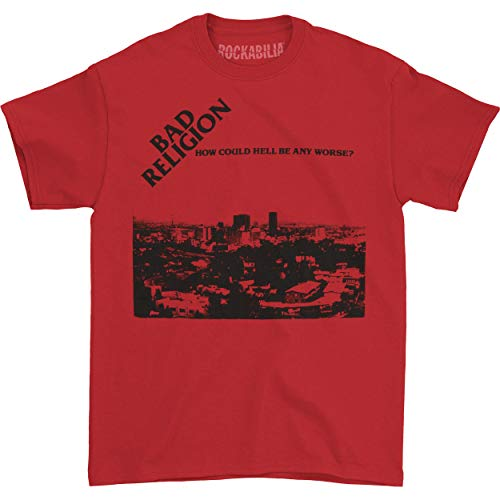 Bad Religion Men's How Could Hell Be Any Worse T-Shirt Large Red
