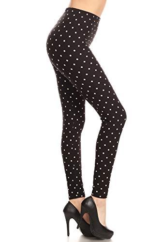 R885-OS Polka Dots Print Fashion Leggings