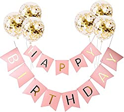 The birthday banner can make everyone happy and can help you and your child, and help enhance awesome memories Our birthday banners are made of high-quality paper so it Can be hanging all day without falling. The birthday balloons is quality material...