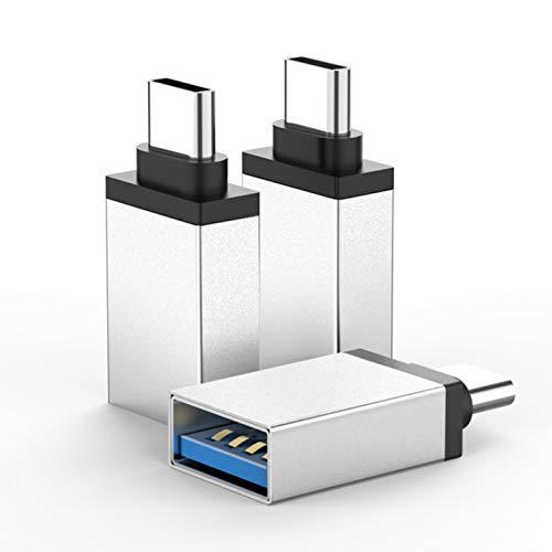 ZERKAR USB Typ C auf USB 30 Adapter 3 Stucke OTG USB C Adapter Thunderbolt 3 to USB 31 fur Google Pixel 4XL Huawei P40Mate30 MacBook ProChromeBook Pad Pro Samsung Galaxy