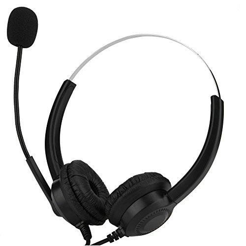 Vbestlife Auriculares USB con Micrófono para Centro de Llamadas Cancelación de Ruido Función de Silencio