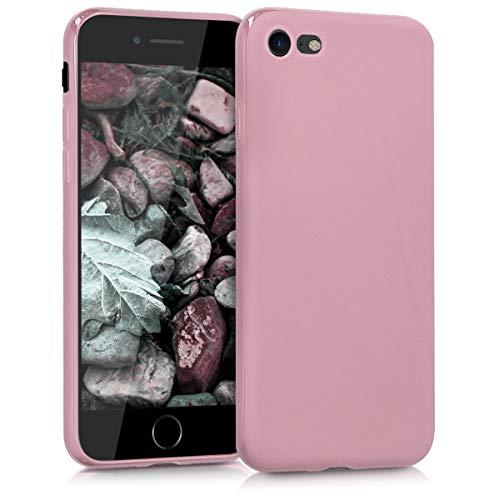kwmobile Cover compatibile con Apple iPhone 7/8 / SE (2020) - Custodia in silicone TPU - Backcover protezione posteriore- rosa antico matt