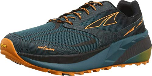 ALTRA Men's Olympus 3.5 Trail Running Shoe, Green/Orange - 10.5 M US